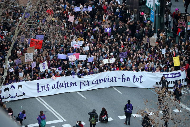 Manifestació feminista 8m Barcelona